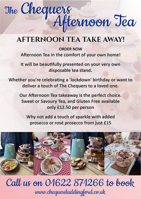 The Chequers laddingford Afternoon Tea.p