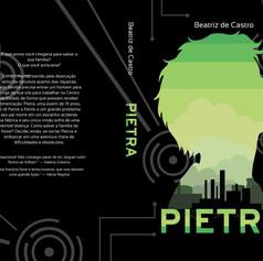 Capa aberta do livro Pietra