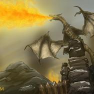 Dragon - Skyrim fanart