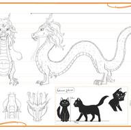 Model Sheet: Tsubomi dragon [Aika Saga]