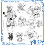 Model Sheet - Iruka Umi (Aika Saga)