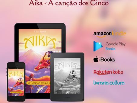 Os livros da Saga Aika em versão e-book!
