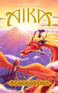 Amostra do livro Aika - A Canção dos Cinco, com cenas em mangá, da autora e ilustradora Lúcia Lemos