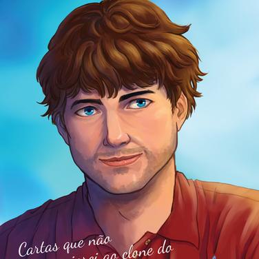 Capa ilustrada para e-book de romance