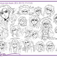 Model Sheet - Aika Akatsuki dos Anjos [A