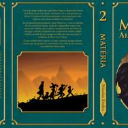 """Open book Cover for the second book of the saga Matter: """"Alma de Diamante"""""""