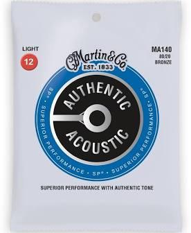 Martin Guitar Strings - Light  80/20  Bronze MA140