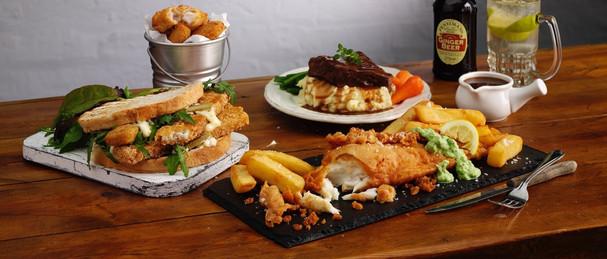 Various pub meals