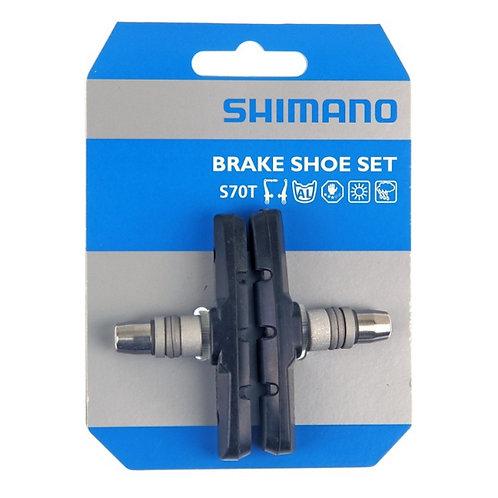 Shimano br-m530 v-brake shoe set s70t compound 1 pair