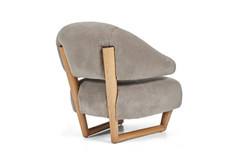 """1 x pair of SCULPTURE  style armchair large in Great Plains """"going grey"""""""