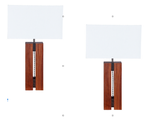 """Pair of """"cubist"""" table lamps"""