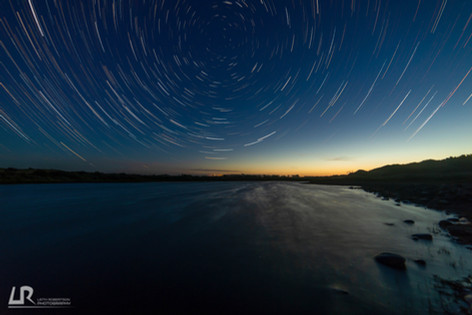 Waikirikiri Lagoon Star Trail