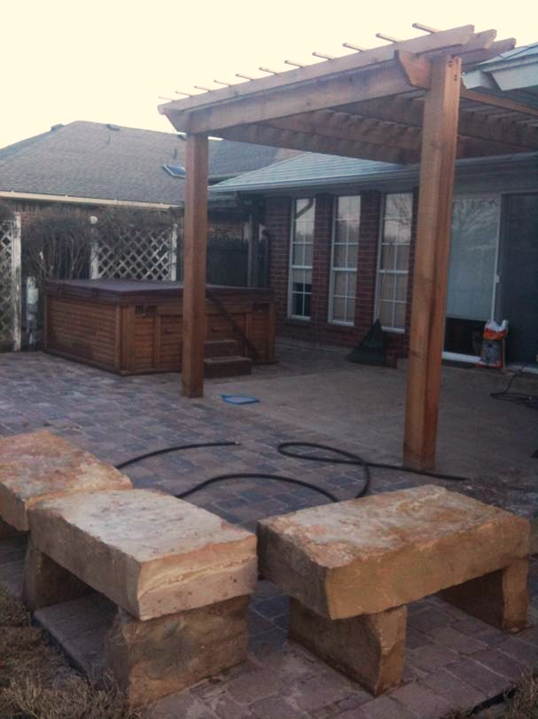 Stone Patios & Pergola Construction