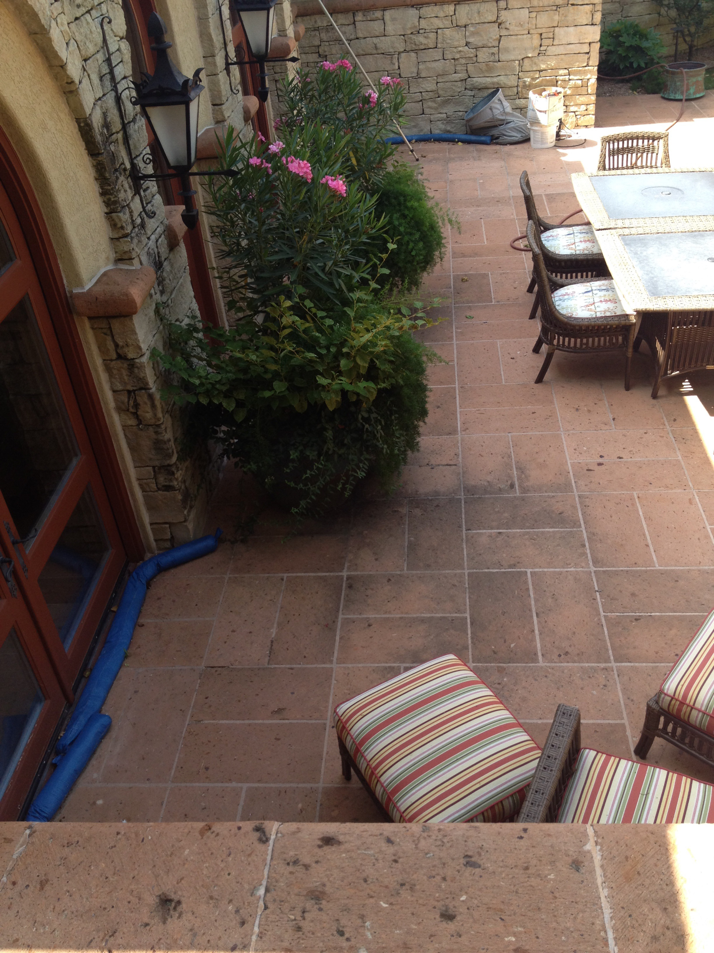 Tile Patio Construction