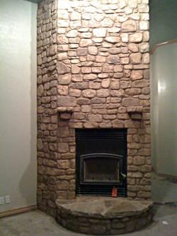 Stone Fireplace Construction