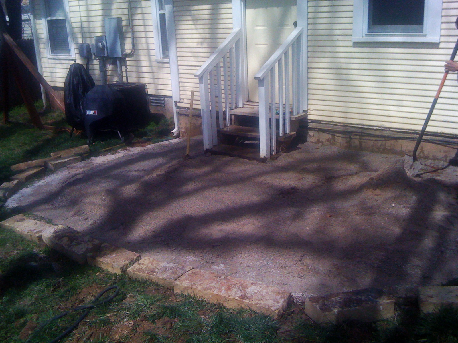 Residential Stone Patio Construction