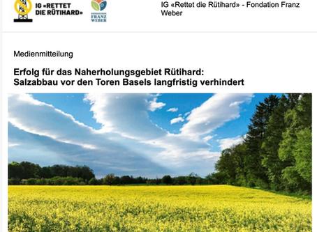 Medienmitteilung - Erfolg für das Naherholungsgebiet Rütihard