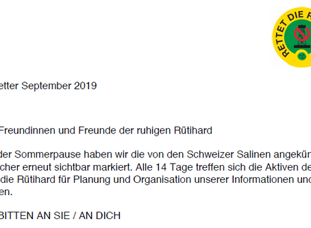 Newsletter vom 6. September 2019