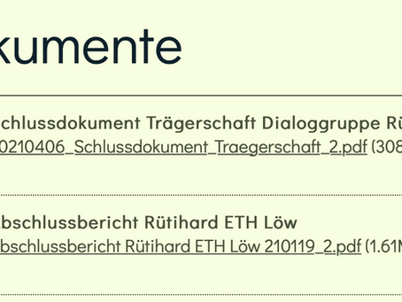 Abschlussbericht von Professor Löw zum Salzabbau auf der Rütihard wurde veröffentlicht