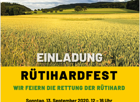 Einladung Rütihardfest So 13.09.2020