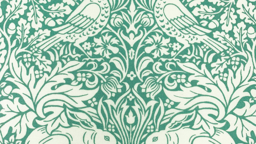 William Morris fabric - Brer Rabbit (navy, teal)