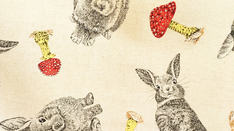 Rabbit and Toadstools fabric
