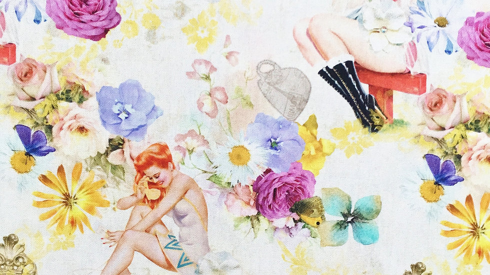 Flowers & Showers fabric