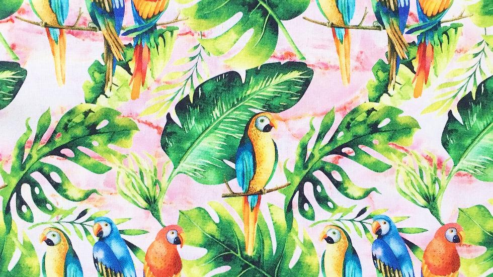 Parrots fabric