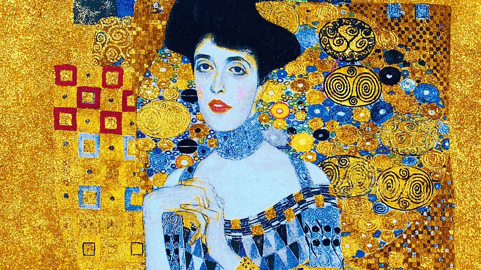 The Lady in Gold fabric panel