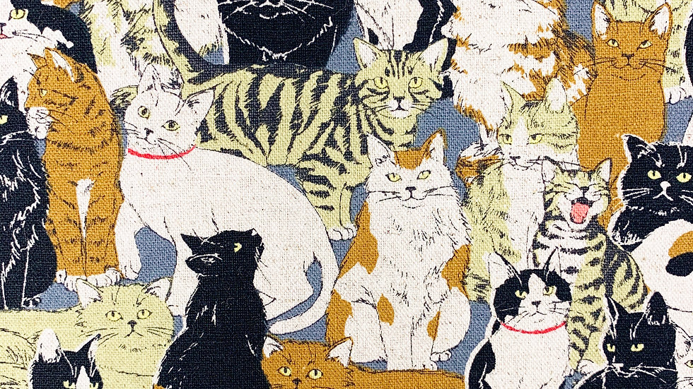 Cats Linen Mix fabric