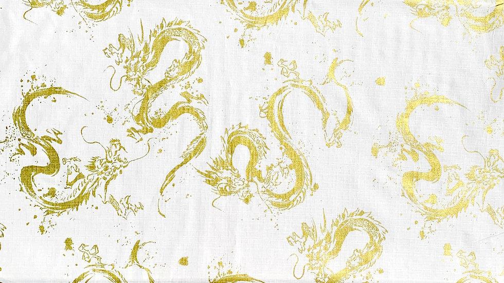 Dragon fabric (ivory/gold)