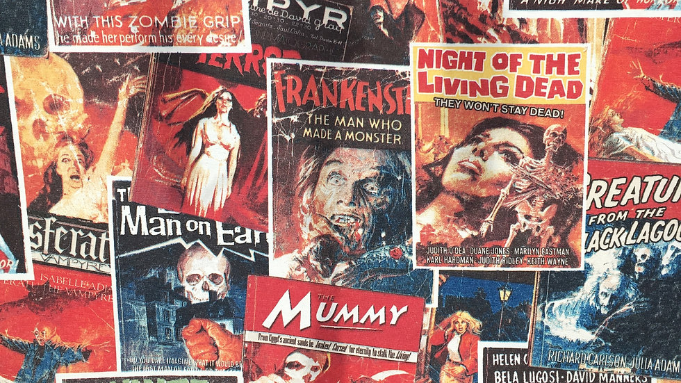 Horror Movie Posters fabric
