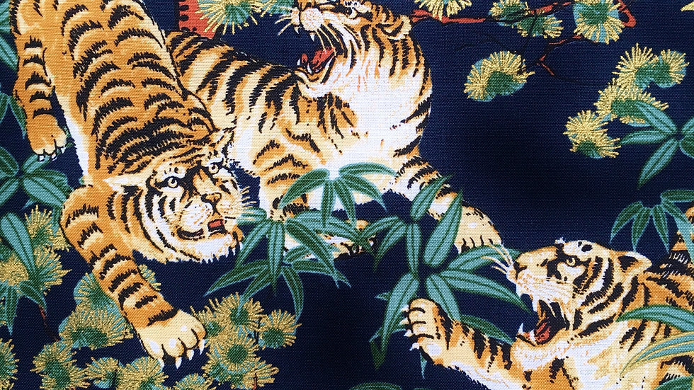 Tigers fabric (dark blue)