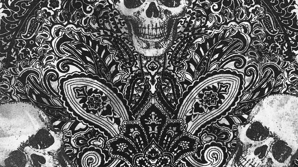 Skulls Paisley fabric