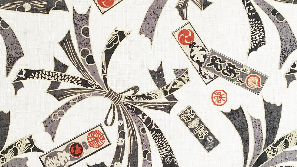 Ceremonial Bows fabric (ivory)