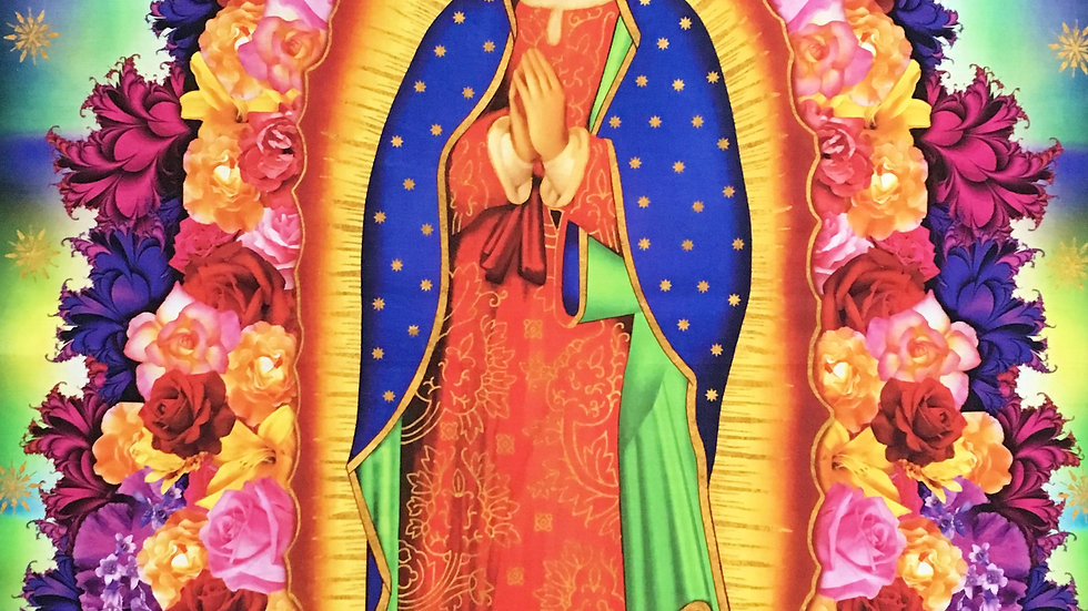 Our Lady of Guadalupe large fabric panel
