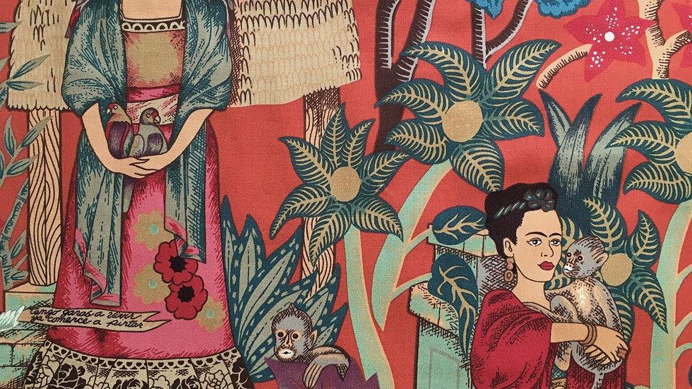 Frida's Garden fabric (terracotta)