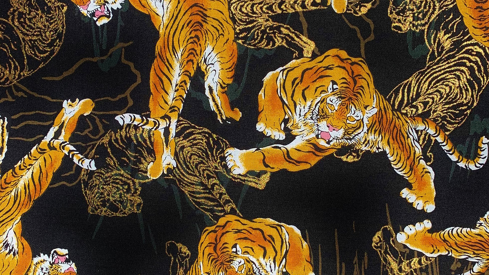 Tora Tigers fabric (black)