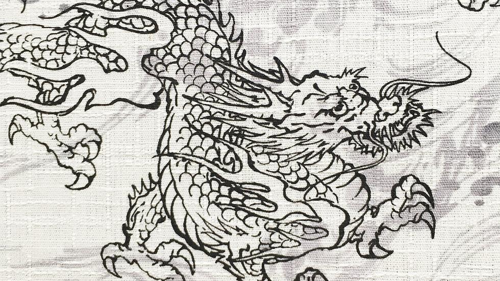Dragons fabric (black/white)