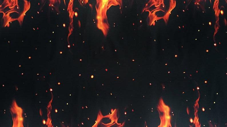 Flames Border fabric
