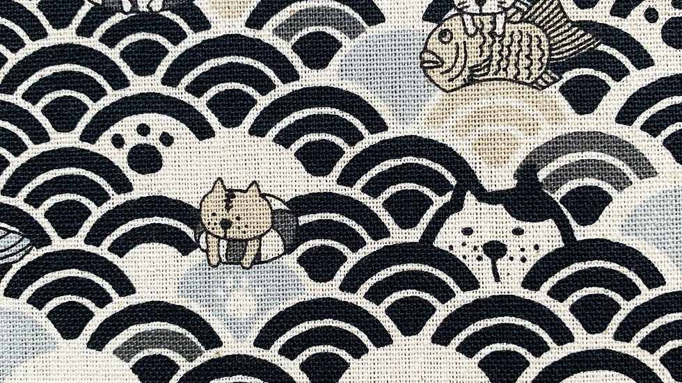 Swimming Cats fabric