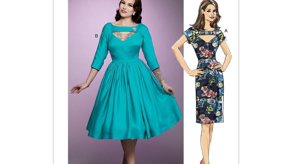 B6590 Retro Dress Sewing Pattern