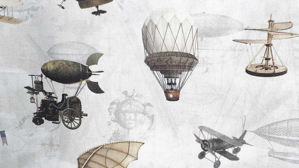 Steampunk Flying Machines fabric