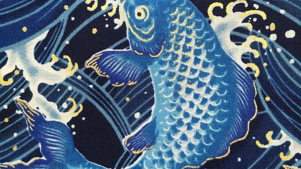 Carp fabric (blue)