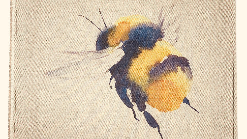 Bumble Bee fabric panel