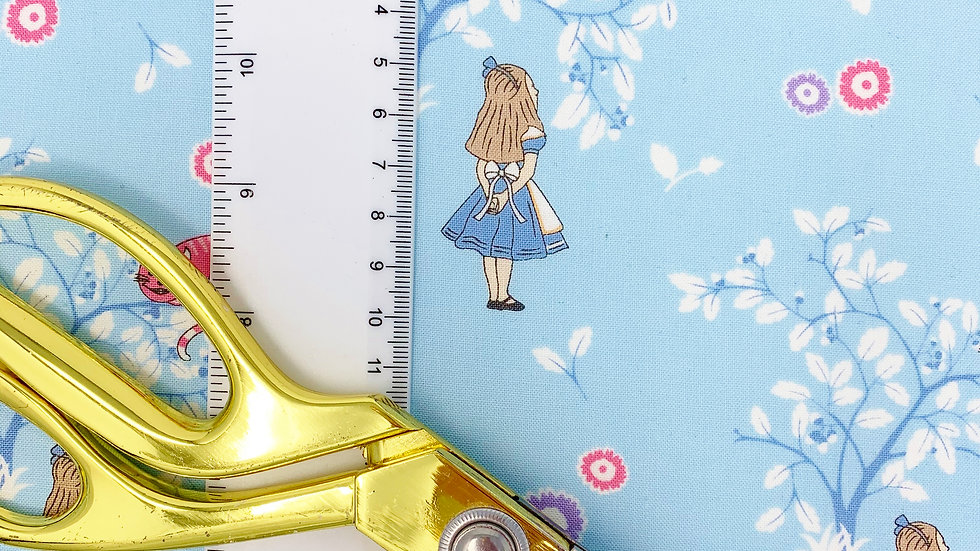 Alice and Cheshire Cat fabric