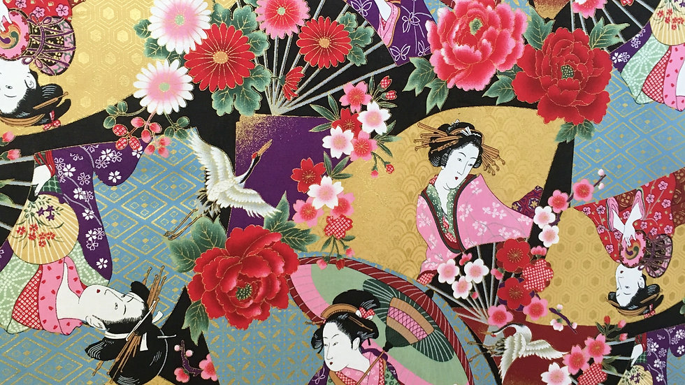 Geisha Japanese fabric