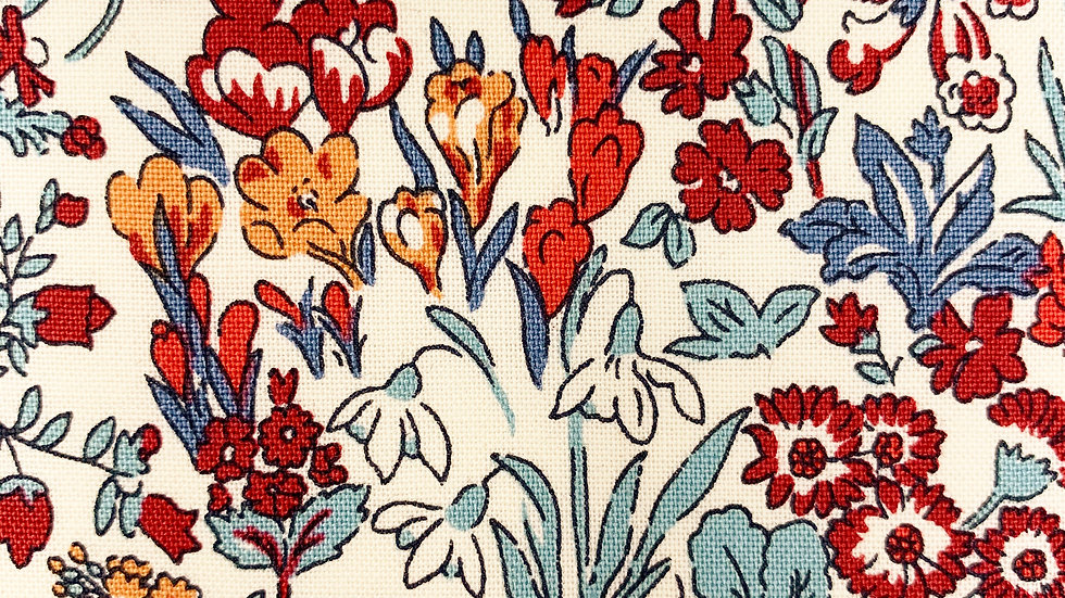 Wisley Flowers fabric (Winter version)