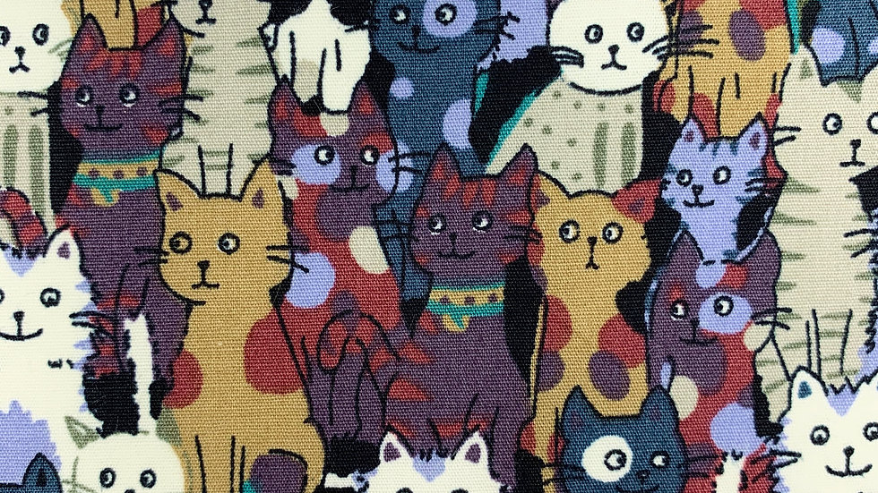 Cats Poplin fabric