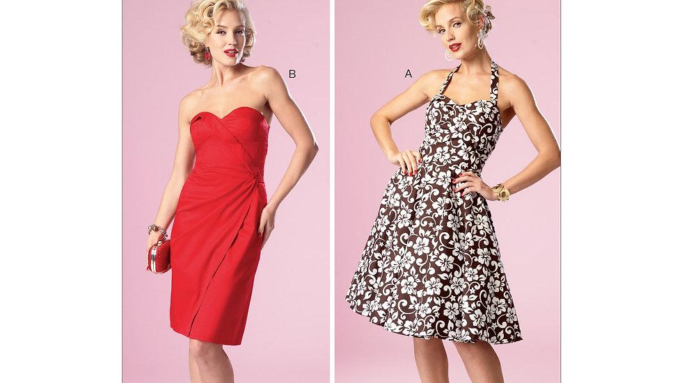 B6019 Retro Dress Sewing Pattern
